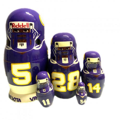 """Матрешка """"Minnesota Vikings"""", 5 мест"""