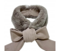Scarf with rabbit fur