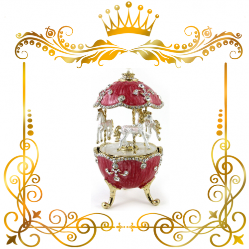 Музыкальное яйцо Карусель