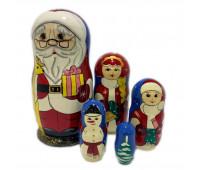 """Матрешка """"Санта Клаус"""", 5 мест"""