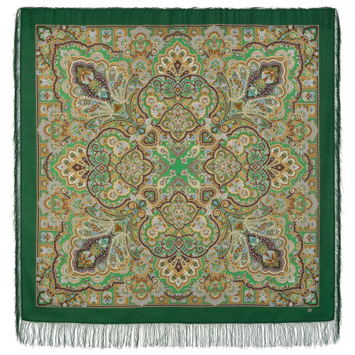 "Wool shawl ""Queen of beauty"""