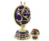 """Faberge-style egg with a surprise """"Bouquet"""""""