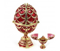 Egg in Faberge style with a surprise