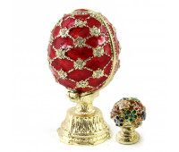 """Faberge-style egg with a surprise """" Bouquet"""""""