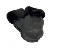 Варежки из кожи с мехом норки