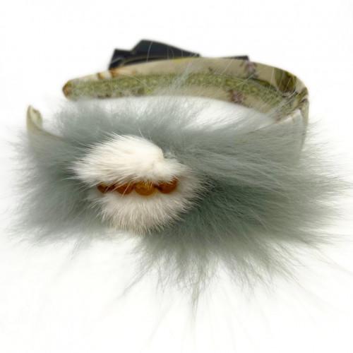 Ободок для волос с мехом песца
