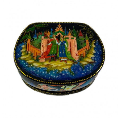 "Лаковая миниатюра ""Сказка о царе Салтане"", Палех"