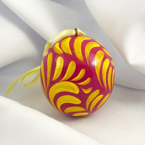 Деревянный расписной шар