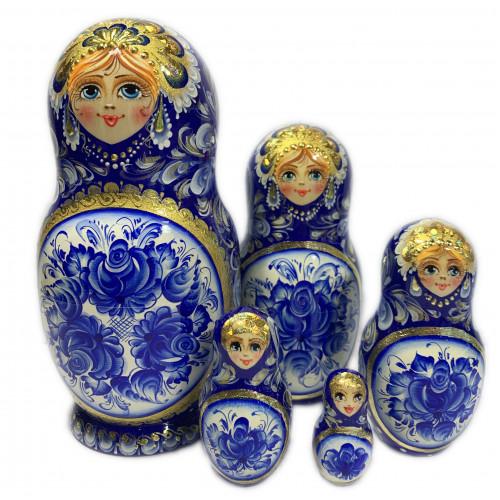 "Русская матрешка ""Зимняя"", 5 мест"