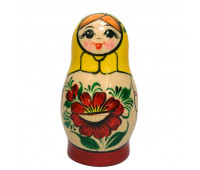 "Matryoshka ""Vyatskaya with flowers"", 5 pieces (Nested dolls)"