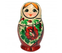 "Matryoshka ""Vyatskaya, floral ornament"", 6 pieces (Russian Babushka doll)"