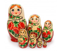 "Matryoshka ""Vyatskaya"", 7 pieces (Nesting doll)"