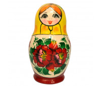 "Matryoshka ""Vyatskaya, yellow scarf"", 7 pieces (Nested dolls)"