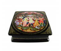 "Lacquer miniature (jewelry box) ""Roundelay"", Mstyora"