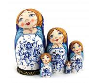 "Matryoshka ""Flower bouquet"", 5 pieces (Stacking doll)"