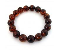 Amber bracelet, brandy amber, 7 cm