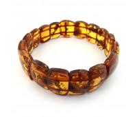 Amber bracelet, honey amber, 7 cm