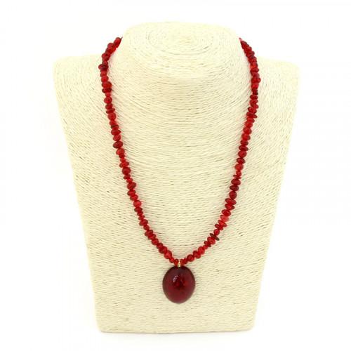 Ожерелье из янтаря, красный янтарь