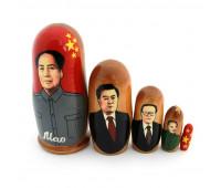 "Матрешка ""Китайские политики"": Мао Цзэдун, 5 мест"