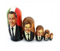 """Матрешка """"Политики Италии"""": Берлускони, Проди, Амато, 5 мест"""