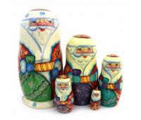 "Matryoshka ""Christmas Grandfather Frost"", 5 pieces (Nesting doll)"