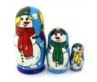 """Матрешка """"Новогодний снеговик"""", 3 места"""