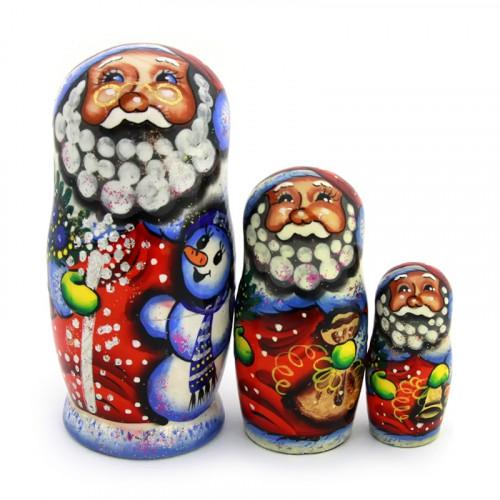 """Матрешка """"Санта Клаус / Дед Мороз"""", 3 места"""