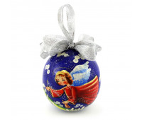 """Hand-painted wooden ball """"Angel"""", jewelry box"""