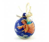 """Hand-painted wooden ball """"Cute angel"""", jewelry box"""