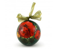 """Hand-painted wooden ball """"Flowers"""", jewelry box"""