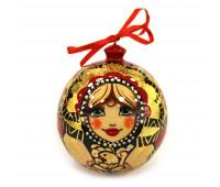 """Hand-painted wooden ball """"Khokhloma"""", jewelry box"""
