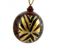 "Christmas tree ball ""Gold"", wooden"