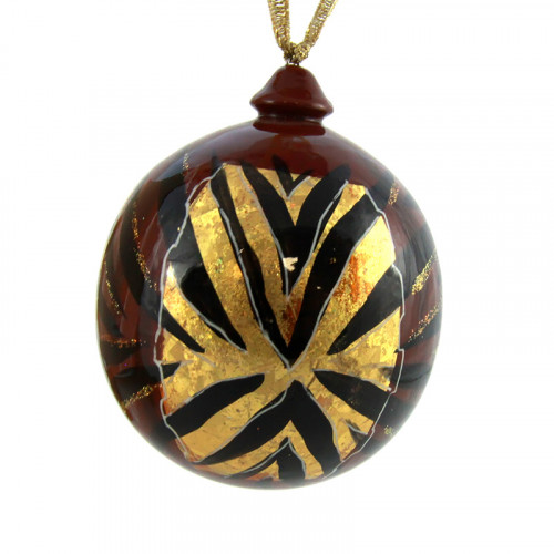 """Елочный шар """"Золото"""", деревянный"""