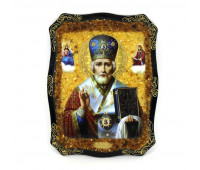 """Painted wooden icon """"St. Nicholas"""""""