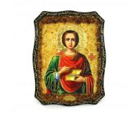 """Расписная деревянная икона """"Святой Пантелеймон"""""""