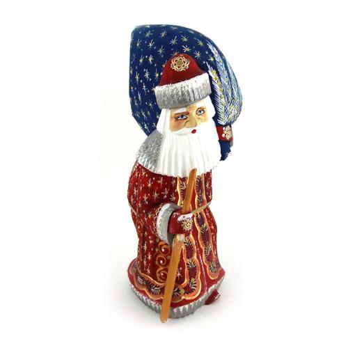 Резной Дед Мороз с подарками