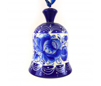 """Hand-painted bell """"Gzhel"""", wood, hand-painted"""