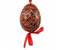"""Wooden hand-painted egg """"Patterns"""""""