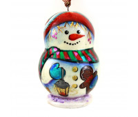 "Christmas tree ornament ""Snowman"", hand painted"