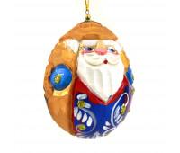 """Деревянная елочная игрушка """"Резной Дед мороз"""""""