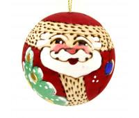 """Деревянная елочная игрушка """"Дед мороз"""" с сюрпризом"""