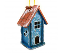 "Christmas tree ornament ""Fairytale house"", wooden"