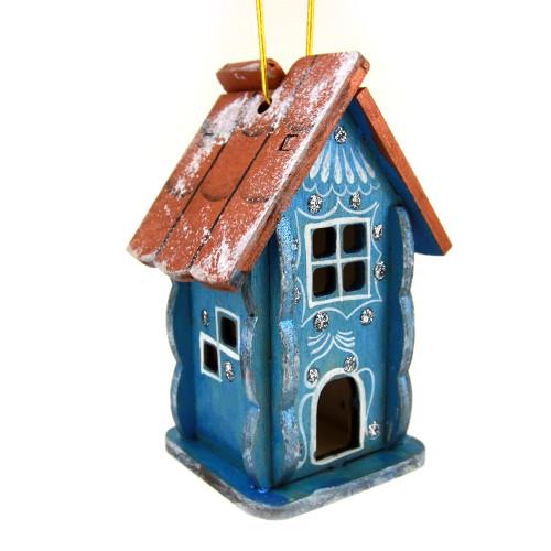 """Елочная игрушка """"Сказочный домик"""", деревянная"""