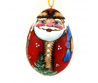 """Wooden Christmas tree toy """"Santa Claus with gift bag"""""""