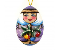 """Wooden Christmas tree toy """"Snowmaiden"""""""