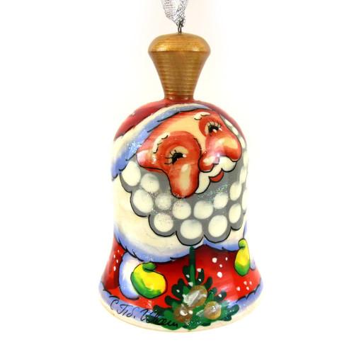 """Колокольчик деревянный расписной """"Дед мороз"""""""