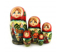 "Matryoshka ""Fairytale"", 5 pieces (Russian wooden doll)"