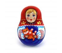 """Неваляшка """"Матрешка с котиком"""""""