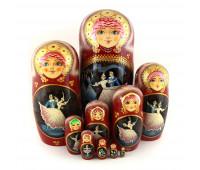 "Matryoshka ""Ballet"", 10 pieces (Russian Babushka doll)"