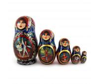 "Matryoshka ""Ballet"", 5 pieces (Russian Babushka doll)"